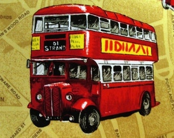 Patchwork Quilting Fabric Nutex London Buses