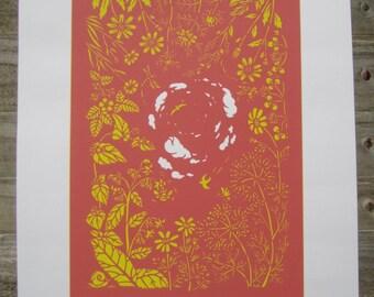 Screen Print: 'My Summer Garden' 2 Colours
