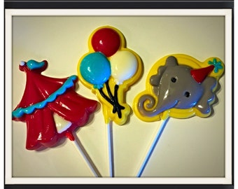 Circus Lollipops - Big Top Circus Theme Chocolate lollipops