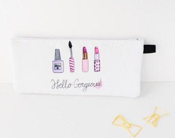 Makeup bag, Pencil pouch, Makeup cosmetic bag case, Cute makeup bags, Girly pencil case, Cosmetic bags, Makeup organizer, Girly Makeup pouch