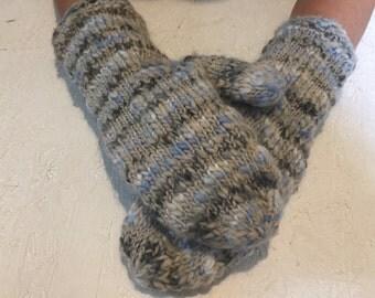 men  knitted mittens  multicolored men gloves men gift accessories  men  winter gloves, rainbown gloves Knitted Wool Mittens
