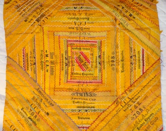 Antique Cigar Silk Ribbon Crazy Quilt
