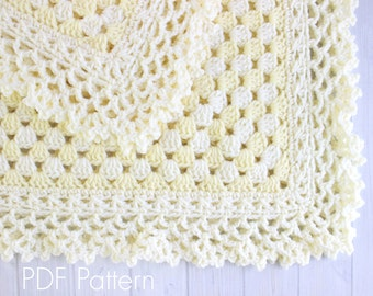 Crochet Baby Blanket PATTERN 143 - Freesia - Crochet PATTERN 143 - Instant Download