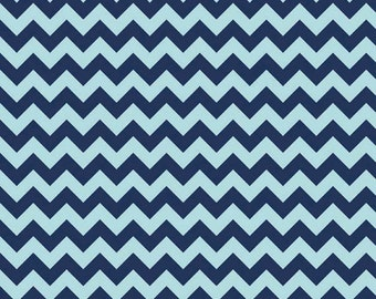 Half Yard Small Chevron - Tone on Tone in Navy Blue - Cotton Quilt Fabric - C400-23 - RBD Designers for Riley Blake Designs (W3328)