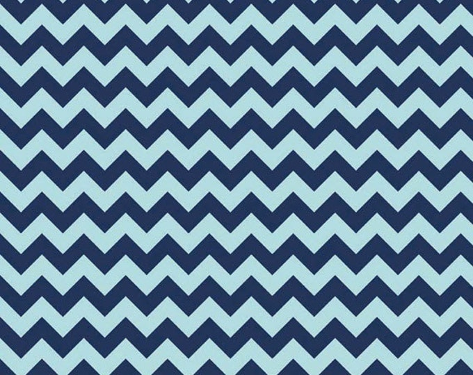 One Yard Small Chevron - Tone on Tone in Navy Blue - Cotton Quilt Fabric - C400-23 - RBD Designers for Riley Blake Designs (W3328)
