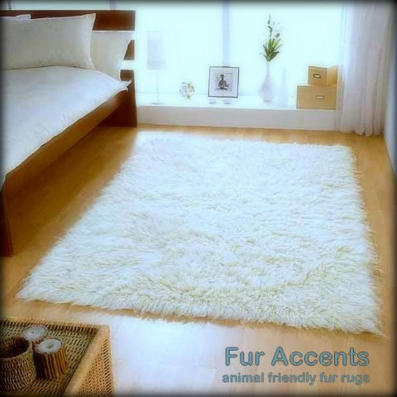 Plush Faux Fur Shaggy Rug Area Carpet Accent Throw