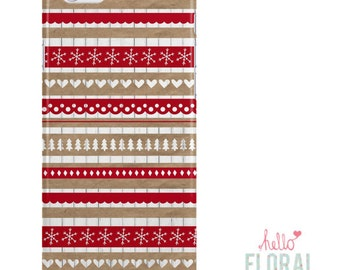 Fairisle Nordic iPhone 4/4s 5 5c 5s 6/6s Plus Samsung Galaxy S2 S3 S4 s5 Ace iPod Touch 4th 5th hard case