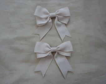 Double Bow Ribbon Clip (2 set)