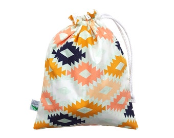 Bikini Bag. Small Wet Bag. Wet Dry Bag. Swim Bag. Beach Bag. Gift for Her. Aztec Bag. Gift for Women. Waterproof Swimming Bag. Swimsuit Bag.