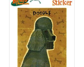 Poodle Black Little Dog Vinyl Sticker - #63671