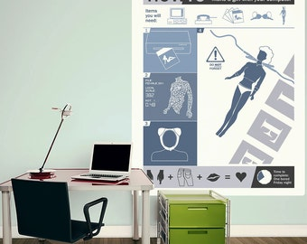 How To Create a Woman Weird Science Wall Decal - #70357
