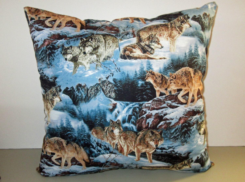 Decorative Pillow Packs : Wolves Pillow Throw Pillows pack of wolves pillow Wilderness