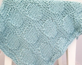Knit Baby Blanket Patterns With Bulky Yarn : Baby circle afghan Etsy