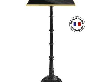 French enamel high bar table, 26.6 x 26.6 in / Enamel bar table to customize / Genuine enamel Paris design made in France