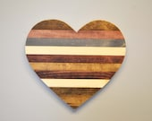 Rustic Wooden Heart, Rustic Home Decor, Rustic Wedding, Mom Gift, Girlfriend Gift, Wife Gift, Gift for Her, Unique Gift, gallery wall