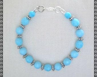 blue bracelet, light blue bracelet, turquoise, turquoise bracelet, baby blue