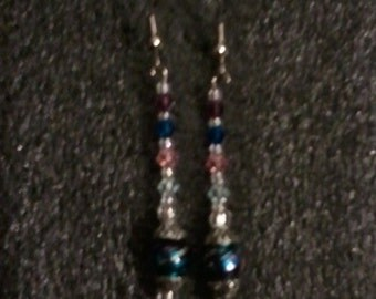 Multi Swirl and Swaroviski Crystal Earring