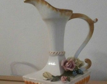 Pitcher spout vessel vintage Bassano ceramics made in Italy