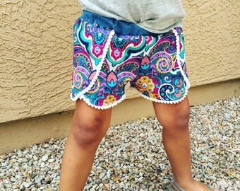 Boho chic - coachella shorts -5T