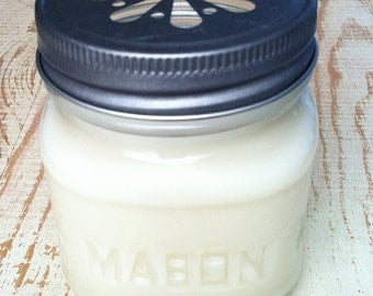 Mason Jar Candles // Pure Soy candles // Wholesale Mason Jar Candles  // Scented//Eco-wicks//Lead-Free//8oz Mason Jar