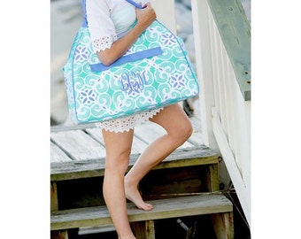 Personalized Beach Tote/Monogrammed/Pool/Vacation/Bridal Party/Wedding Gift