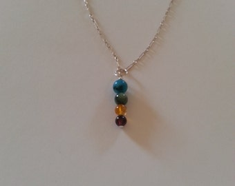 Sterling Silver & Stone Necklace