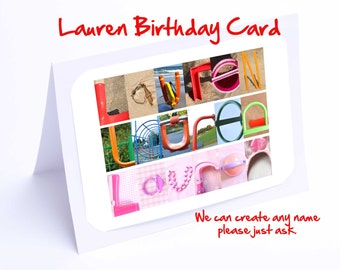 Lauren Personalised Birthday Card