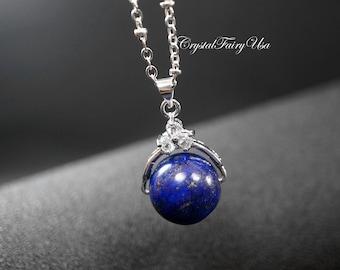 Natural Lapis Lazuli Necklace Blue Stone Necklace Elegant Gemstone Necklace Chakra Crystal Healing Necklace Yoga Lapis Lazuli Earrings