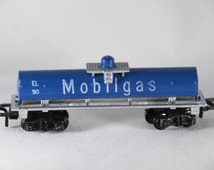 Treble-O-Train, 000 scale, N scale train, Mobilgas, electric train, made in England, perfect gift for train enthusiast or collector!