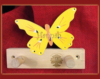 Butterfly coat with engraving for children