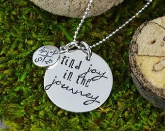 Find Joy in the Journey Necklace in Sterling Silver - Travel Jewelry - Wanderlust