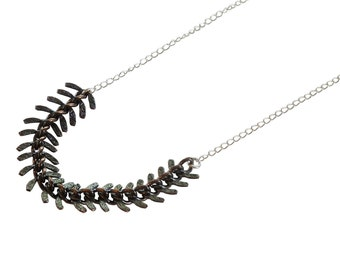 The Gunmetal and Silver Spike Necklace