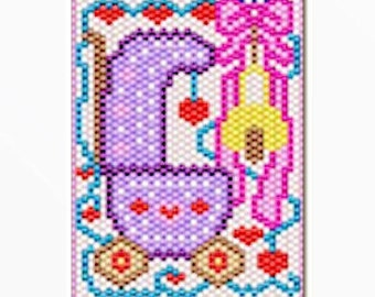 Baby Girl Welcome bead banner pattern