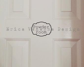 Powder room decal