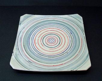 Ceramic platter, square serving tray, serving platter, serving tray, square platter, handmade, stoneware