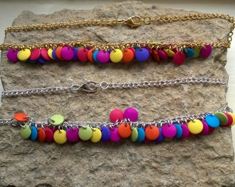 Acrylic Bead and chain necklace