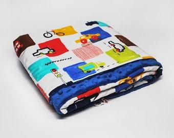 Blue Minky Baby Blanket - Blue Baby Blanket - Baby Blue Blanket - Baby Blanket - Baby Gift