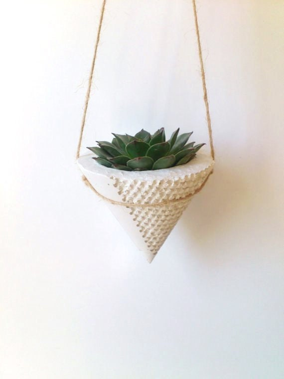Hanging Concrete Planter Modern Planter Home By