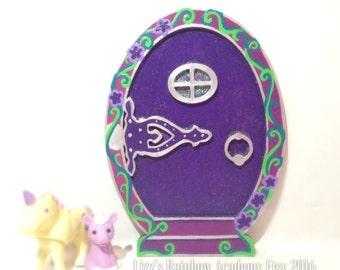 Fairy Door Tooth Fairy Purple Gothic Inspired Elf door Magic fairy