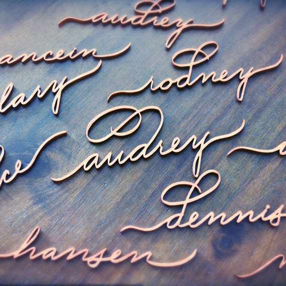 Stunning laser cut name tags