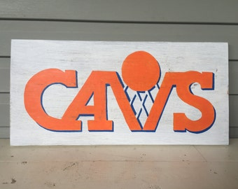 Cavaliers Man Cave Sign Believeland Cavs Cleveland NBA CLE Rustic Decor Garage Hand Painted Custom Vintage Logo