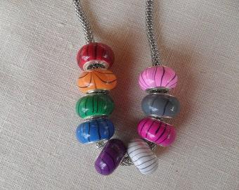 beads, large hole beads, big hole beads, resin beads, swirl beads, charm beads, charm bracelet, European beads, euro beads, LHB05
