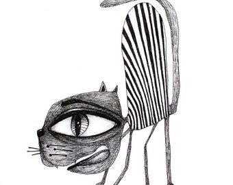 SCAREDY CAT ARCHIBALD Print