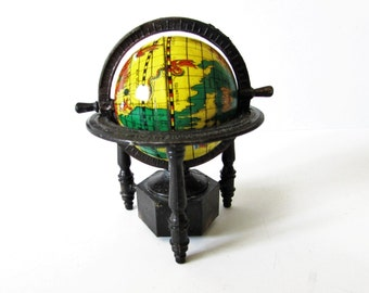 Vintage Novelty pencil sharpener- World Globe; Die Cast  - Rare /MEMsArtShop.