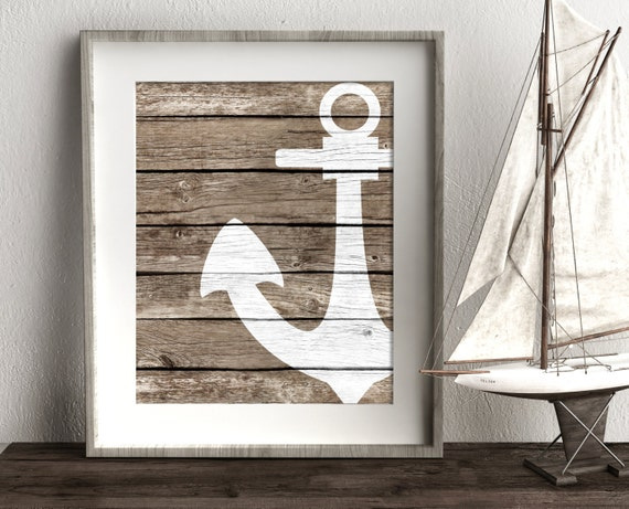 Rustic Coastal Wall Decor : Nautical wall decor rustic bathroom by