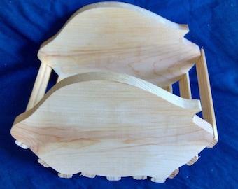 Wooden Pig Basket