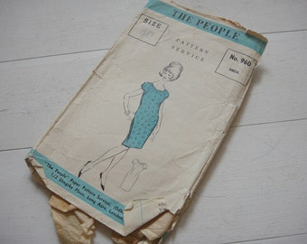 """The People - Dress Pattern 960, Bust 40"""" - Circa 1960"""