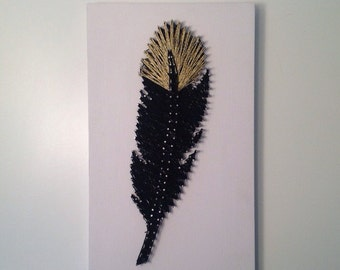 Feather <Wood Art//Home Decor//String Art//Signs>