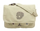 To Be or Not to Be Shakespeare Hamlet Embroidered Canvas Messenger Bag