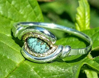 Size 8.5 Turquoise MicroTwist Ring